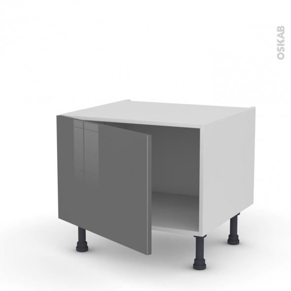 Meuble de cuisine - Bas - STECIA Gris - 1 porte - L60 x H41 x P58 cm