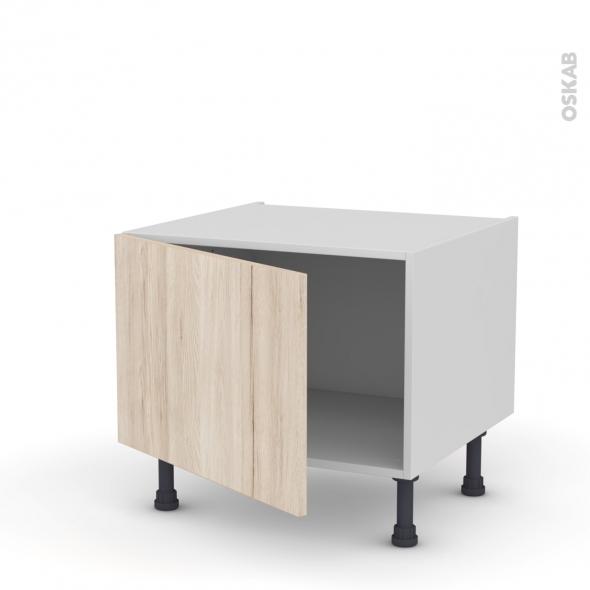 Meuble de cuisine - Bas - IKORO Chêne clair - 1 porte - L60 x H41 x P58 cm