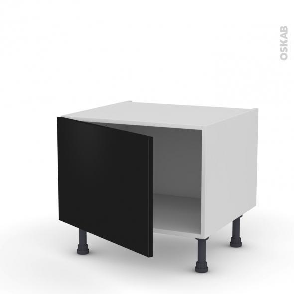Meuble de cuisine - Bas - GINKO Noir - 1 porte - L60 x H41 x P58 cm