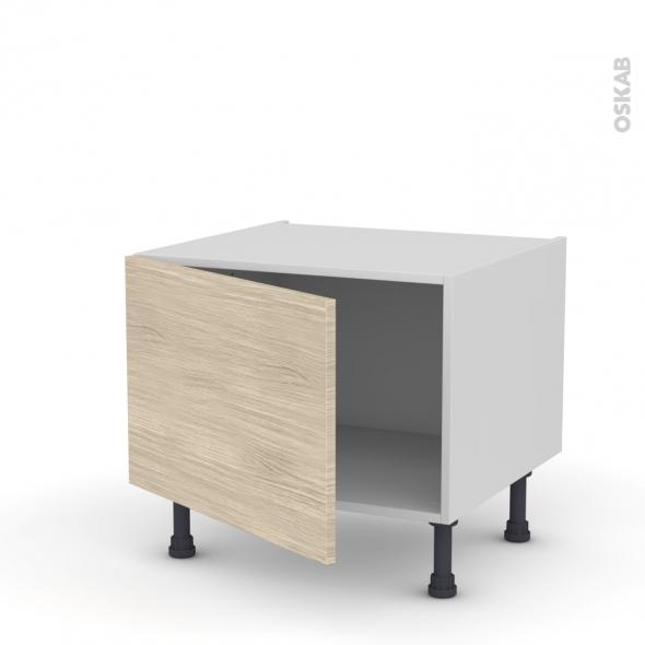 Meuble de cuisine - Bas - STILO Noyer Blanchi - 1 porte - L60 x H41 x P58 cm