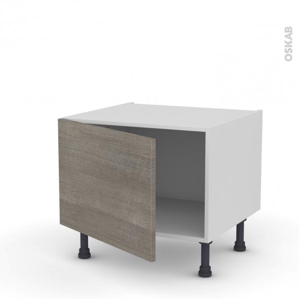Meuble de cuisine - Bas - STILO Noyer Naturel - 1 porte - L60 x H41 x P58 cm