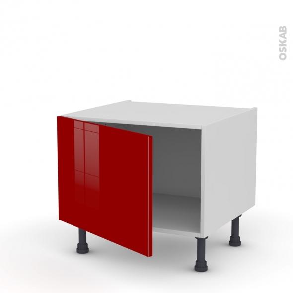 Meuble de cuisine - Bas - STECIA Rouge - 1 porte - L60 x H41 x P58 cm
