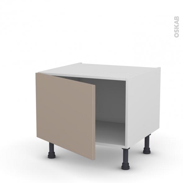 Meuble de cuisine - Bas - GINKO Taupe - 1 porte - L60 x H41 x P58 cm
