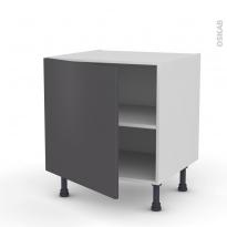 Meuble de cuisine - Bas - GINKO Gris - 1 porte - L60 x H57 x P58 cm