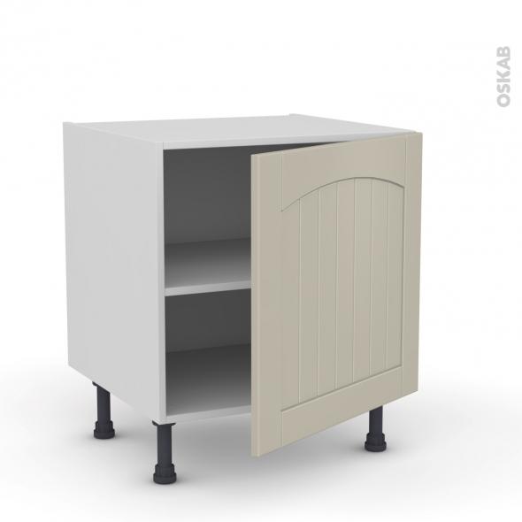 SILEN Argile - Meuble bas cuisine - 1 porte - L60xH57xP58 - droite