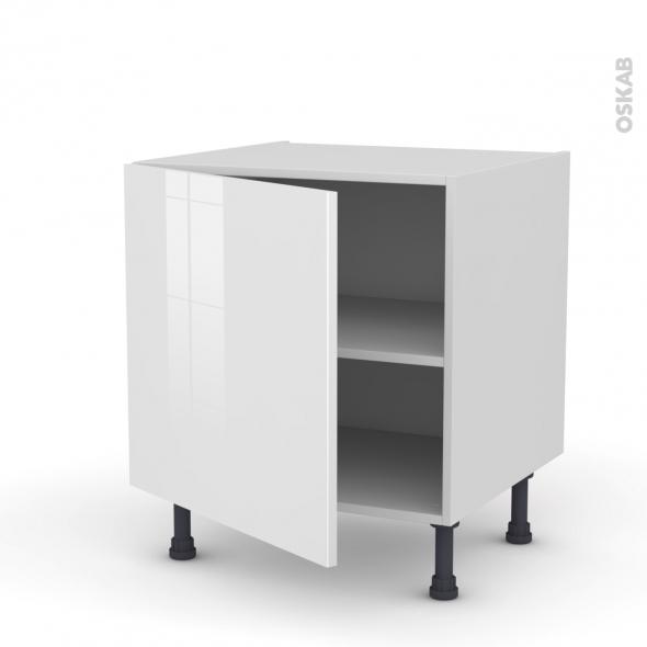 Meuble de cuisine - Bas - STECIA Blanc - 1 porte - L60 x H57 x P58 cm