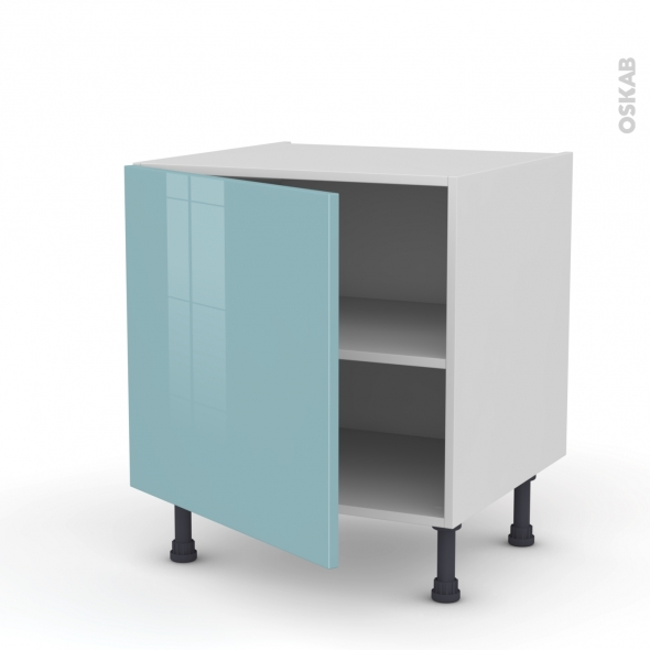 Meuble de cuisine - Bas - KERIA Bleu - 1 porte - L60 x H57 x P58 cm