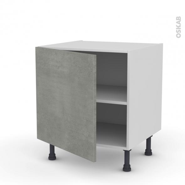 Meuble de cuisine - Bas - FAKTO Béton - 1 porte - L60 x H57 x P58 cm