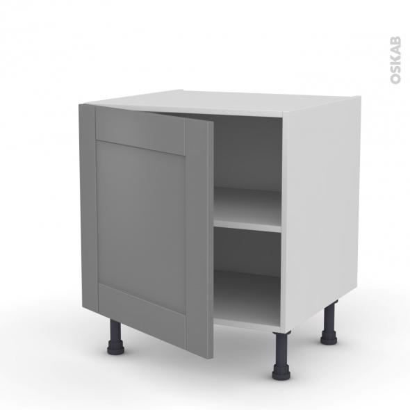Meuble de cuisine - Bas - FILIPEN Gris - 1 porte - L60 x H57 x P58 cm