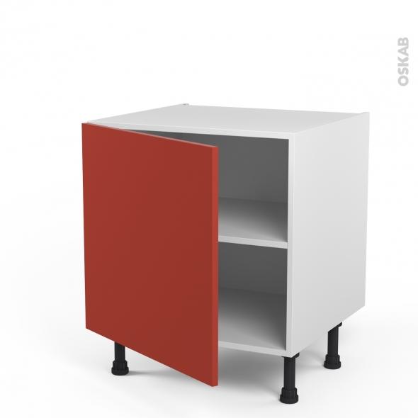 HELIO Rouge - Meuble bas cuisine - 1 porte - L60xH57xP58
