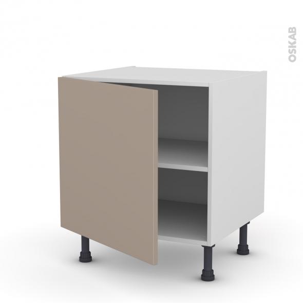Meuble de cuisine - Bas - GINKO Taupe - 1 porte - L60 x H57 x P58 cm