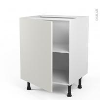 Meuble de cuisine - Bas - GINKO Blanc - 1 porte - L60 x H70 x P58 cm