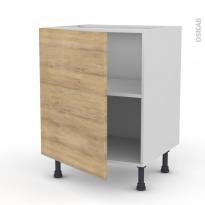 Meuble de cuisine - Bas - HOSTA Chêne naturel - 1 porte - L60 x H70 x P58 cm