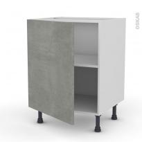 Meuble de cuisine - Bas - FAKTO Béton - 1 porte - L60 x H70 x P58 cm