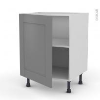 Meuble de cuisine - Bas - FILIPEN Gris - 1 porte - L60 x H70 x P58 cm