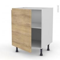 Meuble de cuisine - Bas - IPOMA Chêne naturel - 1 porte - L60 x H70 x P58 cm