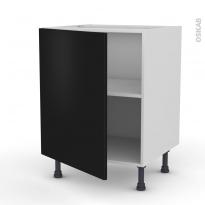 Meuble de cuisine - Bas - GINKO Noir - 1 porte - L60 x H70 x P58 cm