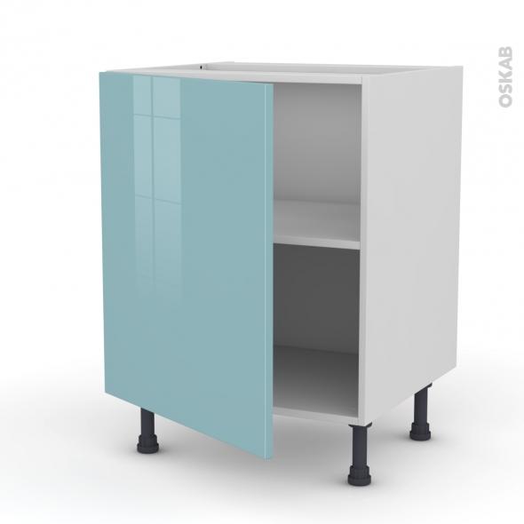 KERIA Bleu - Meuble bas cuisine  - 1 porte - L60xH70xP58