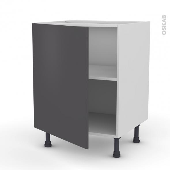 Meuble de cuisine - Bas - GINKO Gris - 1 porte - L60 x H70 x P58 cm