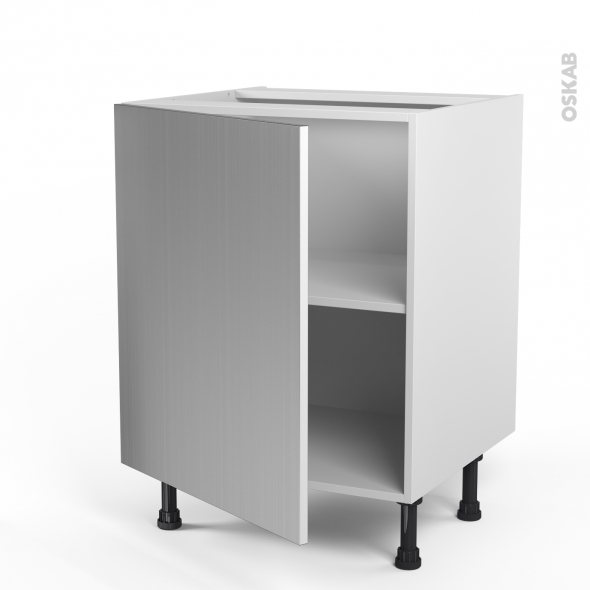 STILO Inox - Meuble bas cuisine  - 1 porte - L60xH70xP58