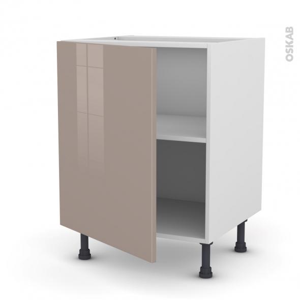 Meuble de cuisine - Bas - KERIA Moka - 1 porte - L60 x H70 x P58 cm