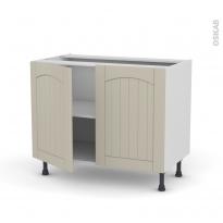 SILEN Argile - Meuble bas cuisine  - 2 portes - L100xH70xP58