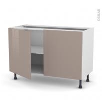 KERIA Moka - Meuble bas cuisine  - 2 portes - L120xH70xP58