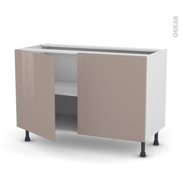 Meuble de cuisine - Bas - KERIA Moka - 2 portes - L120 x H70 x P58 cm