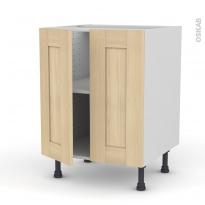 BETULA Bouleau - Meuble bas cuisine - 2 portes - L60xH70xP58