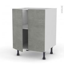 Meuble de cuisine - Bas - FAKTO Béton - 2 portes - L60 x H70 x P58 cm