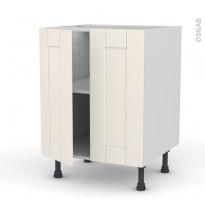 Meuble de cuisine - Bas - FILIPEN Ivoire - 2 portes - L60 x H70 x P58 cm