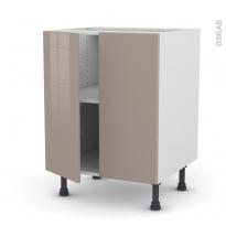 Meuble de cuisine - Bas - KERIA Moka - 2 portes - L60 x H70 x P58 cm