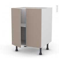 Meuble de cuisine - Bas - GINKO Taupe - 2 portes - L60 x H70 x P58 cm