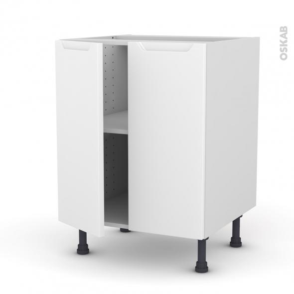 PIMA Blanc - Meuble bas cuisine - 2 portes - L60xH70xP58