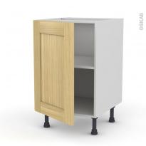 BASILIT Bois Brut - Meuble bas cuisine  - 2 portes - L80xH70xP58