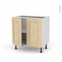 BETULA Bouleau - Meuble bas cuisine  - 2 portes - L80xH70xP58