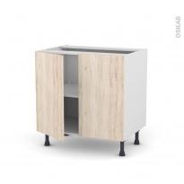 IKORO Chêne clair - Meuble bas cuisine  - 2 portes - L80xH70xP58