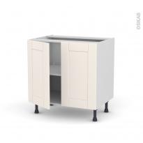 Meuble de cuisine - Bas - FILIPEN Ivoire - 2 portes - L80 x H70 x P58 cm