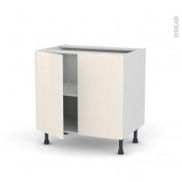 Meuble de cuisine - Bas - KERIA Ivoire - 2 portes - L80 x H70 x P58 cm