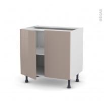 Meuble de cuisine - Bas - KERIA Moka - 2 portes - L80 x H70 x P58 cm