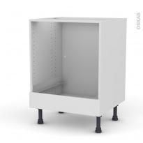 Meuble de cuisine - Bas four - GINKO Blanc - Bandeau bas - L60 x H70 x P58 cm