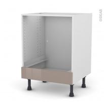 Meuble de cuisine - Bas four - KERIA Moka - Bandeau bas - L60 x H70 x P58 cm