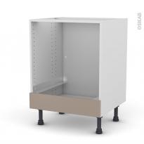 Meuble de cuisine - Bas four - GINKO Taupe - Bandeau bas - L60 x H70 x P58 cm