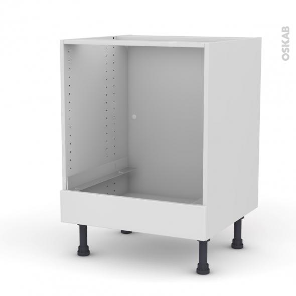 GINKO Blanc - Meuble bas four  - bandeau bas - L60xH70xP58