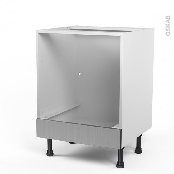 STILO Inox - Meuble bas four  - bandeau bas - L60xH70xP58