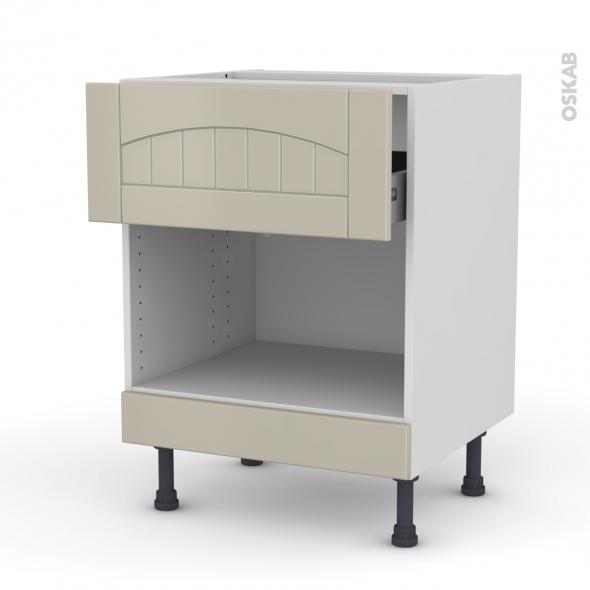 SILEN Argile - Meuble bas MO niche 45 - 1 tiroir haut - L60xH70xP58