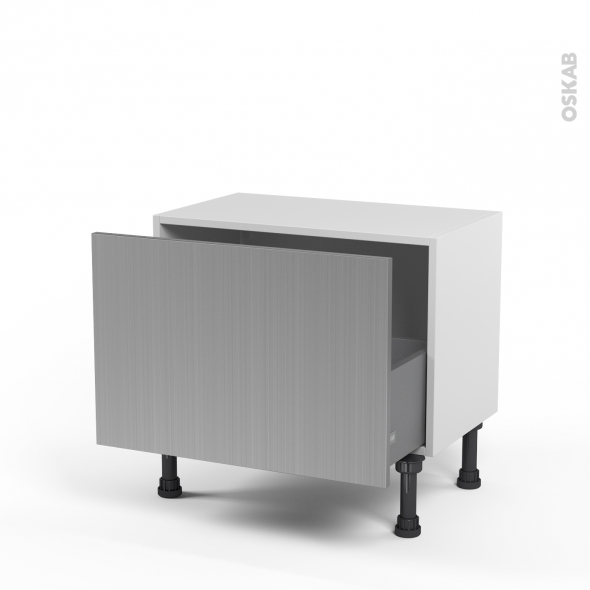 STILO Inox - Meuble bas prof.37 - 1 casserolier - L60xH41xP37