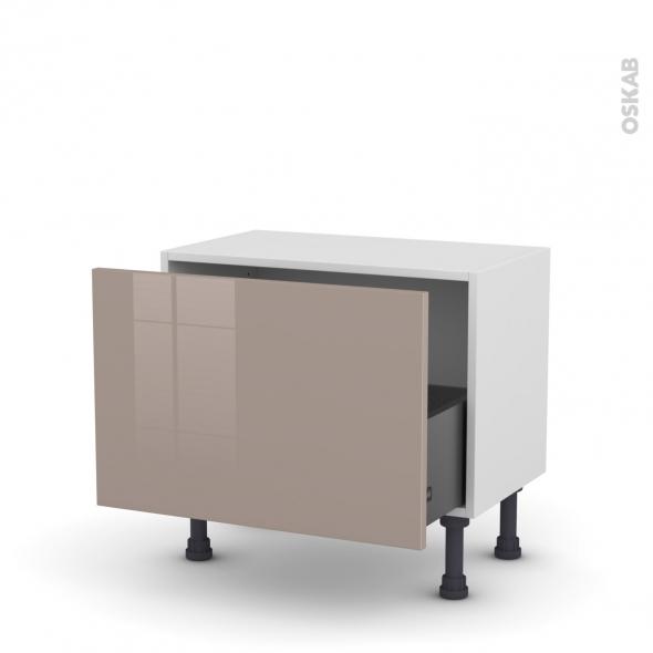 Meuble de cuisine - Bas - KERIA Moka - 1 casserolier - L60 x H41 x P37 cm