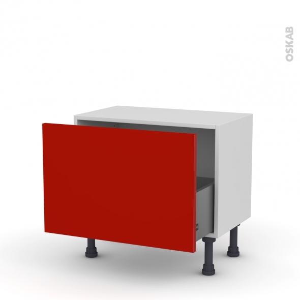 GINKO Rouge - Meuble bas prof.37 - 1 casserolier - L60xH41xP37