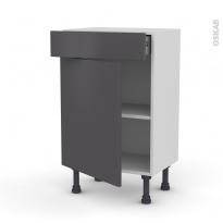 Meuble de cuisine - Bas - GINKO Gris - 1 porte 1 tiroir - L50 x H70 x P37 cm